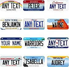 Any Subjects Made To Order Custom License Plate Personalize Gifts Your Design