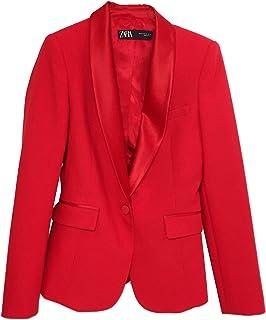 9a445294 Zara Women's Contrast Shawl Collar Blazer 2124/783