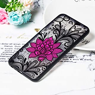 Simple Modern kitchen/home tools Big Lotus Pattern Embossed Lace + PC Case for Galaxy J4 Prime,Simple, comfortable, easy t...