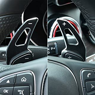Car Accessories Steering Wheel Shifter Paddle Extension For Mercedes Benz C class W205/ GLC Class X253 /E Class W213/ GLE(Black)