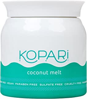 Kopari Organic Coconut Melt - All-over Skin Moisturizing, Under Eye Rescuing, Hair Conditioning + More With 100% Organic Coconut Oil, Non GMO, Vegan, Cruelty Free, Paraben Free and Sulfate Free 7.0 Oz