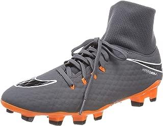 Men's Phantom 3 Academy DF FG Soccer Cleat (8.5 D(M) US, Dark Grey/Total Orange/White)