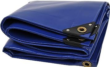 NEMAXX PLA34 Premium dekzeil 400x700 cm blauw met ogen, 650 g/m² PVC waterdicht - voor vrachtwagen, zwembad - afdekking, b...