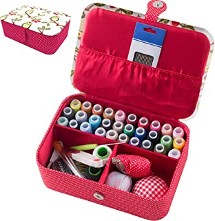 TINTON LIFE Professional Sewing Kits with Box Sewing Accessories Supplies Kits for Adults Kids Beginner Travel Sewing Basket