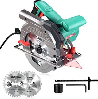 Sponsored Ad – Circular Saw, 1500W HYCHIKA Electric Saw with Speed 4700RPM, Laser Guide, 24T/40T Blades(190mm), Max Cuttin...
