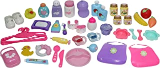 """JC Toys Baby Nursery 45 Piece Accessory Bag for Keeps Playtime!   Accessories fit Most Dolls up to 15""""   Play Accessories ..."""