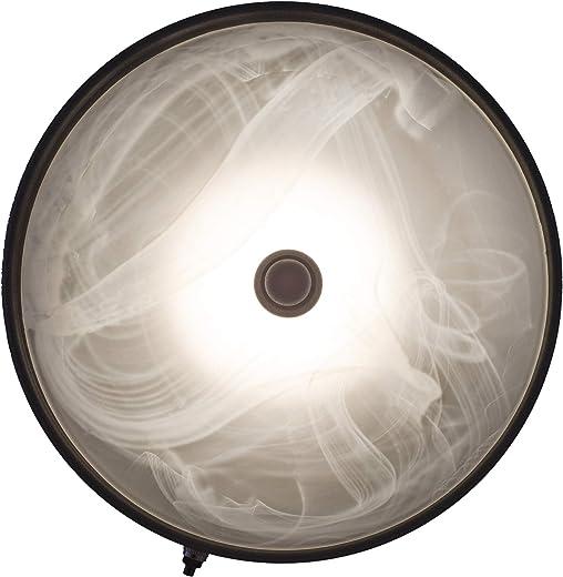 RecPro RV Trailer Ceiling Light 12v LED Black