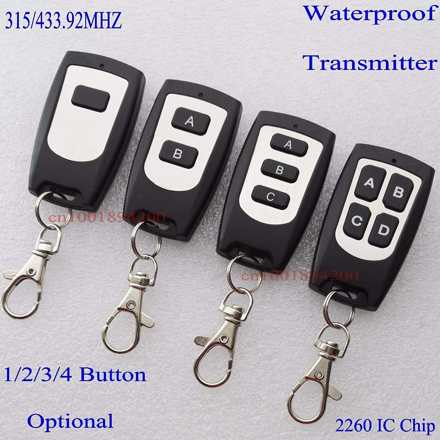 Wireless Remote Controller Transmitter 315MHZ 4.7M IC PT2260 WaterProof 14 Button UltraThin Fittings for Professional