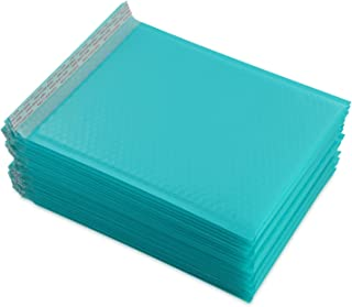 Yomuse #3 Extra Wide 9.45 x 13 Poly Bubble Mailer Self-Seal Padded Envelopes fit A4 Paper, Pack of 25, Teal