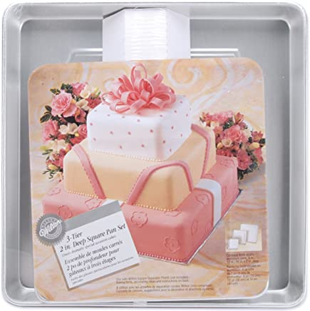 Wilton Performance Pans Square Cake Set 3 Piece