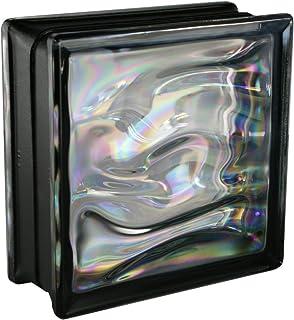 comprar comparacion 6 piezas BM bloques de vidrio AGUA perla negro 19x19x8 cm