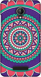 Micromax Canvas Spark Q380 Case, Premium Handcrafted Designer Hard Shell Snap On Case Shockproof Printed Back Cover for Micromax Canvas Spark Q380 - Mandala Beauty
