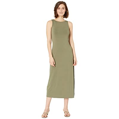 Tommy Bahama Tambour Sleeveless Midi Dress (Tea Leaf) Women