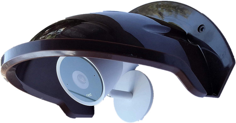 Universal Sun Rain Shade Camera Cover Shield for Nest/Ring/Arlo/Dome/Bullet Outdoor Camera - Coffee