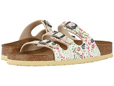 Birkenstock Florida Soft Footbed Birko-Flortm (Meadow Flowers Beige Birko-Flor) Women