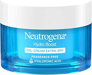 Neutrogena Hydro Boost Hyaluronic Acid Hydrating Gel-Cream Face Moisturizer to Hydrate & Smooth Extra-Dry Skin, Oil-Free, ...