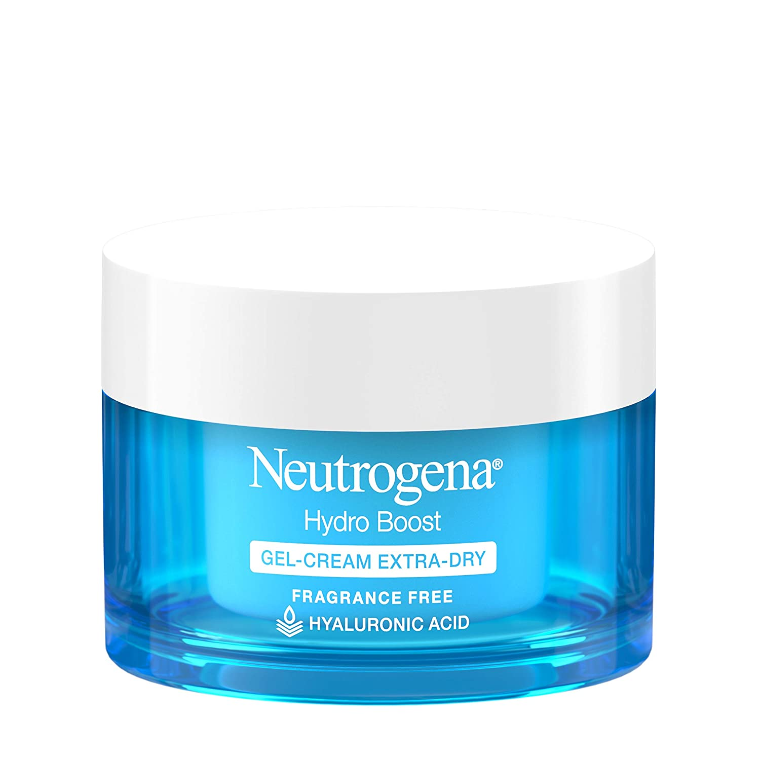 Neutrogena Hydro Boost Hyaluronic Acid Hydrating Gel-Cream Face Moisturizer to Hydrate & Smooth Extra-Dry Skin, Oil-Free, Fragrance-Free,...
