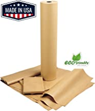 "American Made Brown Kraft Paper Jumbo Roll 17.75"" x 2400"" (200ft) Ideal for Gift Wrapping, Art, Craft, Postal, Packing, Shipping, Floor Covering, Dunnage, Parcel, Table Runner 100% Recycled Material"
