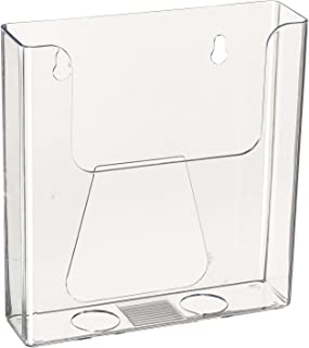 Source One 6 Inch BiFold Wall Mount Premium Booklet Clear Brochure Holder