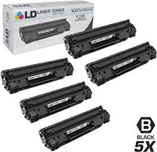LD Compatible Toner Cartridge Replacement for Canon 126 (Black, 5-Pack)