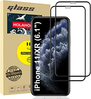 """Holahoney Glass Screen Protector Designed for iPhone 11 / XR (6.1"""") [Edge to Edge Coverage] Full Protection Durable HD Tem..."""
