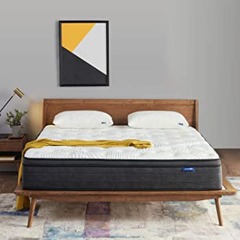 Sweetnight Full Size Mattress in a Box - 12 Inch Full Mattress, Plush Pillow Top Hybrid Mattress, Gel Memory Foam for Sleep Cool, Motion Isolating Individually Wrapped Coils, Twilight