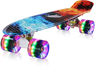 streakboard Skateboard, Cruiser Skateboard, Komplettboard mit ABEC-7 Kugellager, Mini..