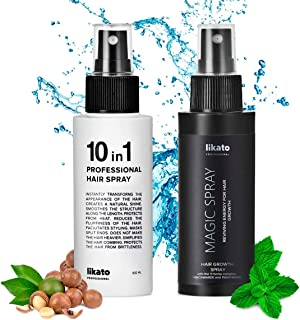 LIKATO Leave in Conditioner Spray for Hair 100 ml - 10 in 1, LIKATO MAGIC Hair Growth Spray 100 ml - Magic Spray