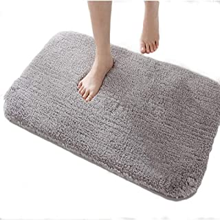 DADA Luxury Large Bath Mat for Bathroom Rug Non-Slip Absorbent Cozy Soft Fluffy Microfiber Machine Wash Carpet Mats Rugs 24x36 inch Grey