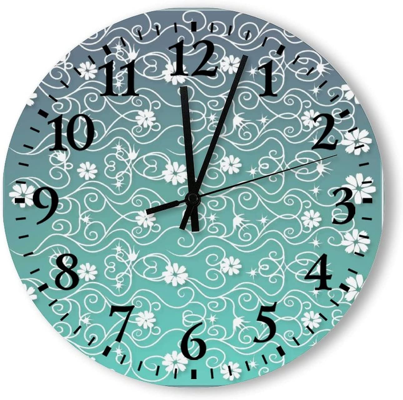free Modern Wooden Wall Clocks Green Ticking Max 43% OFF Simple Silent Daisy Non
