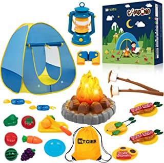 MITCIEN Kids Camping Play Tent with Toy Campfire / Marshmellow /Fruits Toys Play Tent Set for Boys Girls Indoor Outdoor Pr...