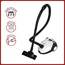 PAFFY Vacuum Cleaner-1200W with Power Suction, Blower Function, Low Sound, High Energy Efficiency, 2L Reusable dust Bag and 2 Years Warranty, Spengler (White/Blue)