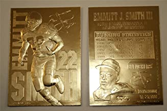 EMMITT SMITH LIMITED EDITION SIGNATURE 23KT GOLD CARD!