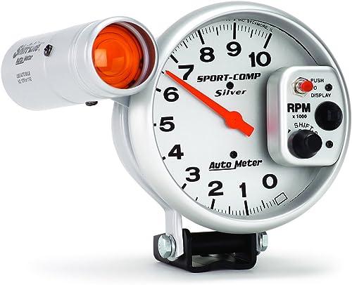 popular Auto Meter 3911 Sport-Comp Silver online Shift-Lite discount Tachometer, 5.000 in. online