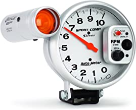 Auto Meter 3911 Sport-Comp Silver Shift-Lite Tachometer
