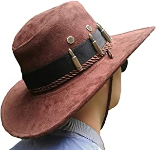 Hats for Men Cosplay Cowboy Caps and Mens Sun Caps and Game Caps Accessory Brown