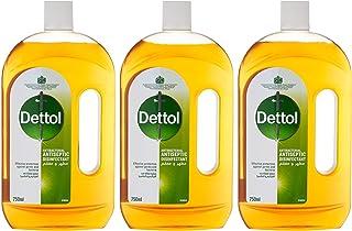 Dettol Antiseptic Antibacterial Disinfectant Liquid, 750 ml, Pack of 3