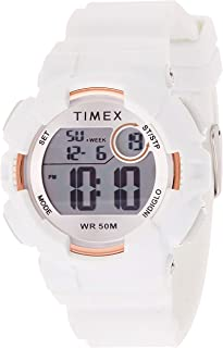 ساعة Timex Womens Quartz Watch Digital Display and Silicone Strap - TW5M31000