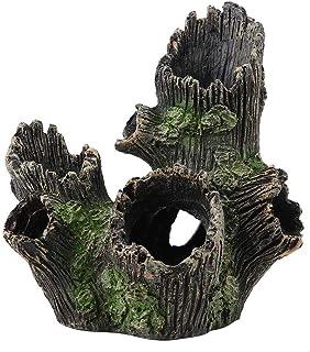 FTVOGUE Acuario Driftwood Madera Artificial Tronco de árbol Raíz Camarón Desove Terreno Cueva Tanque de Peces Vivarium Decoración(01)