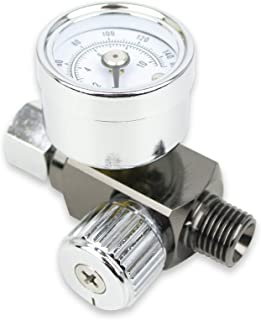 "Air Adjusting Regulator Valve with Pressure Gauge for Spray Guns and Air Tools (1/4"" NPS)"