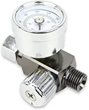 "Air Adjusting Regulator Valve with Pressure Gauge for Spray Guns and Air Tools (1/4"" NPS)"