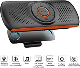 Bluetooth Hands Free Speakerphone for Cell Phone, Wireless Car Kit Music Player Adapter..