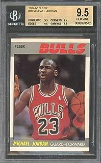 1987-88 fleer #59 MICHAEL JORDAN bulls (2nd year card) BGS 9.5 (9.5 9.5 9.5 9.5)