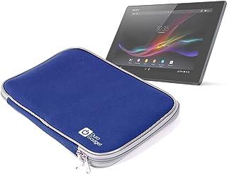 1fe6b736aba DURAGADGET Funda De Neopreno Azul De Viaje Con Cremallera Para El Tablet Sony  Xperia Z