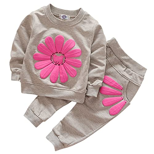 07d38f8c7 Toddler Baby Girls Sunflower Clothes Set Long Sleeve Top and Pants 2pcs  Outfits Fall Clothes