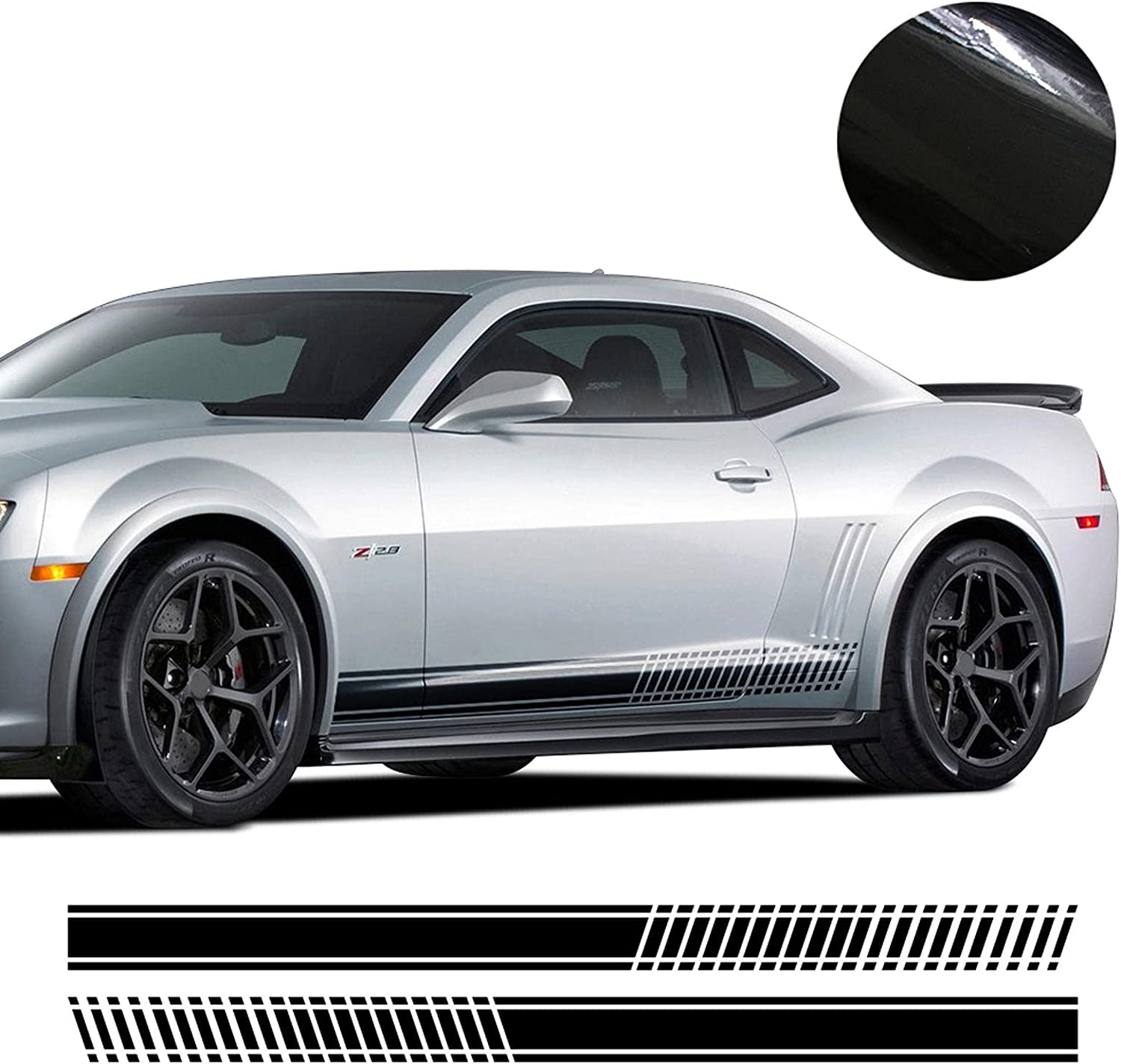 XKHSD Car Side Over item handling Skirt Challenge the lowest price of Japan ☆ Stripe Decal for Camaro Decals L Chevrolet