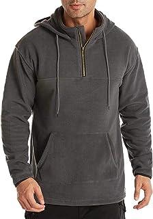 MakingDa Men's 1/4 Zip Classic Hoodie - Double-Sided Polar Fleece Long Sleeve Warm Casual Sweatshirt