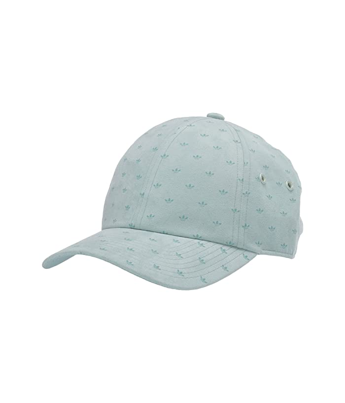 adidas Originals  Relaxed Suede Print Cap (Green Tint) Caps