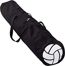 Volleyball Gym Bag – Durable Black Sports Duffel Bag with Nylon Carrying Straps – Travel Bag for Carrying Balls, Jerseys, ...
