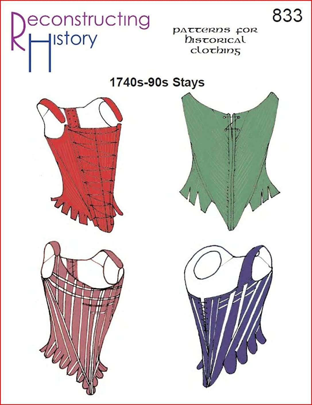 Reconstructing History 1740's to 1790's Stays Pattern